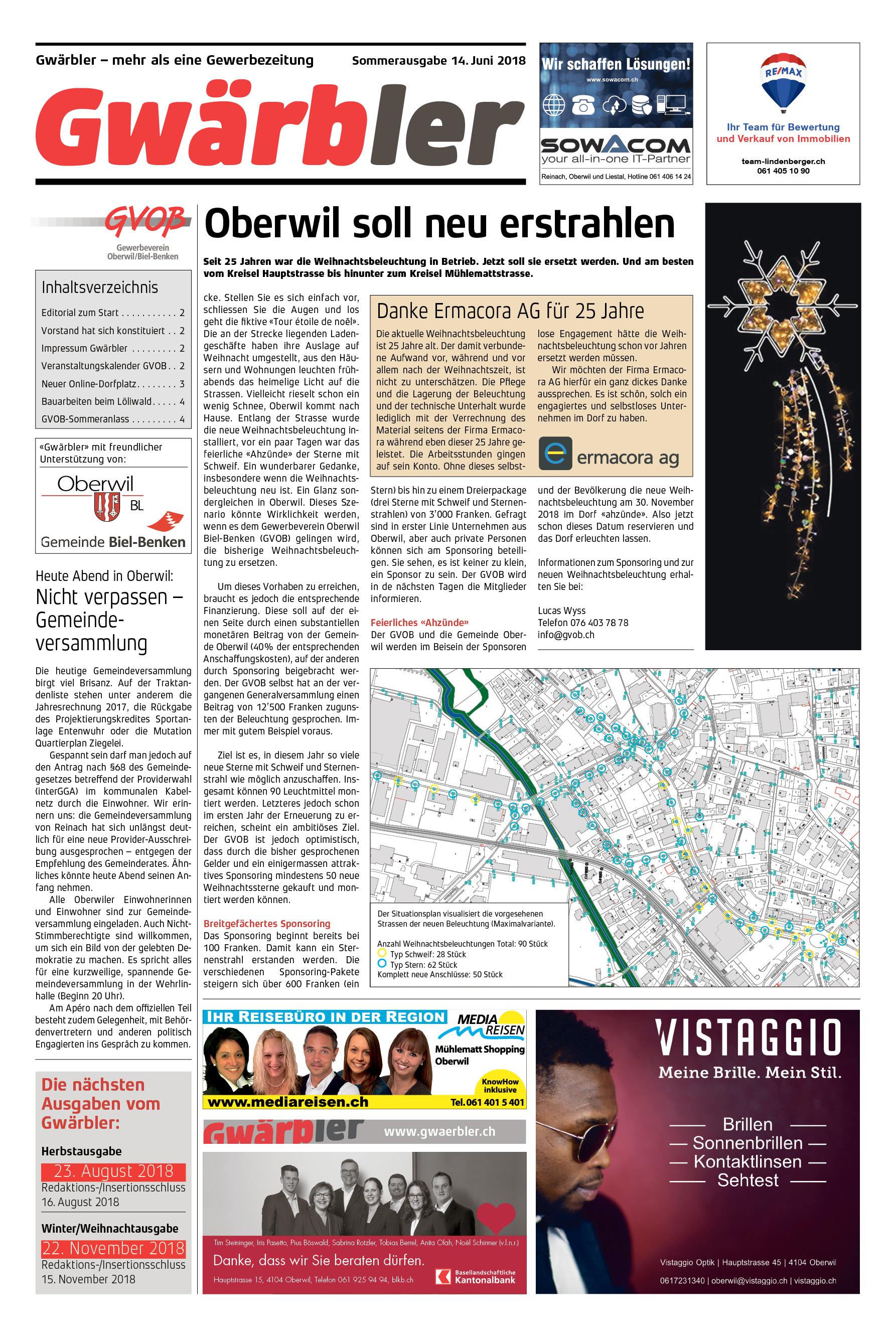 Gwärbler Ausgabe 1-18, Seite 1