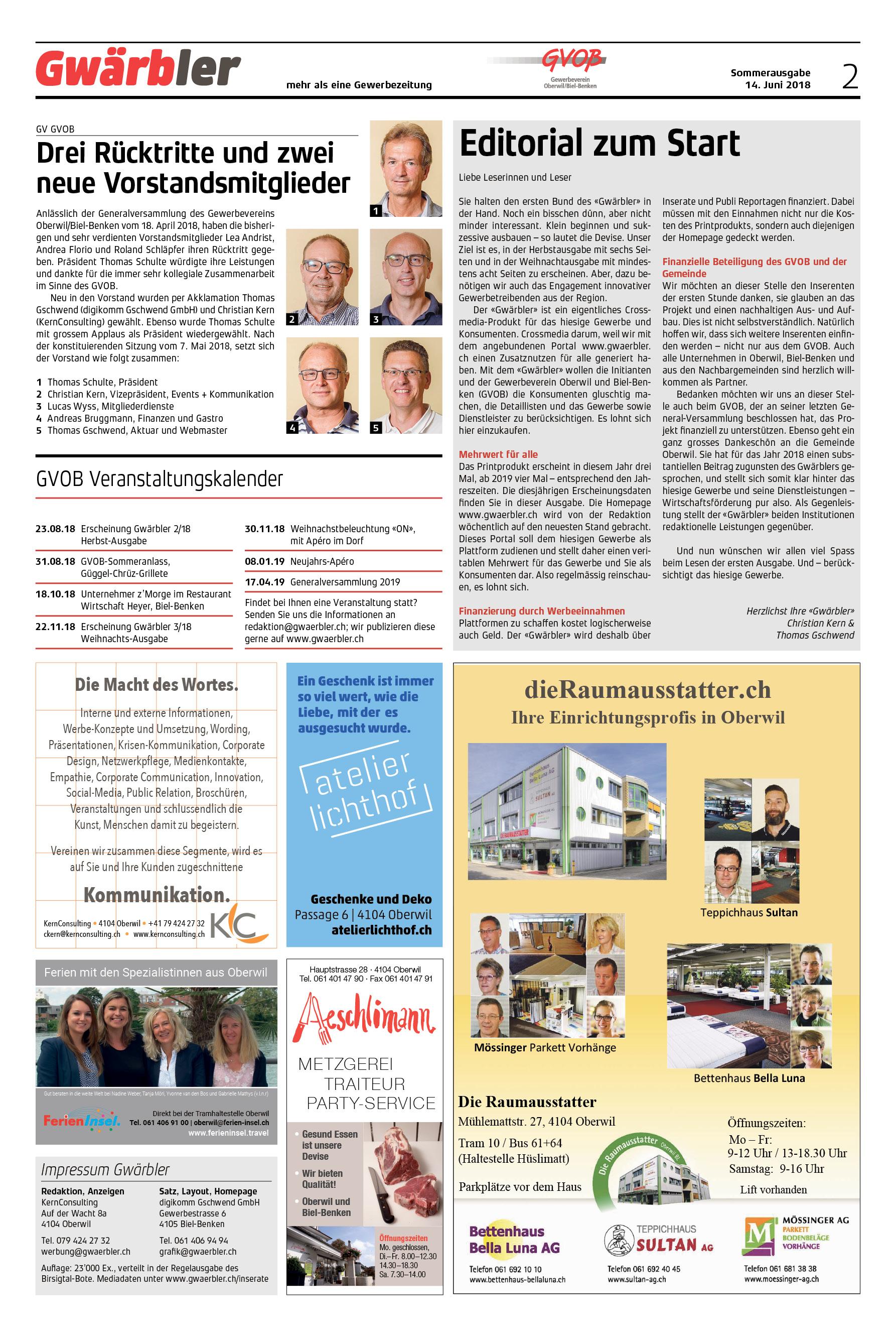 Gwärbler Ausgabe 1-18, Seite 2
