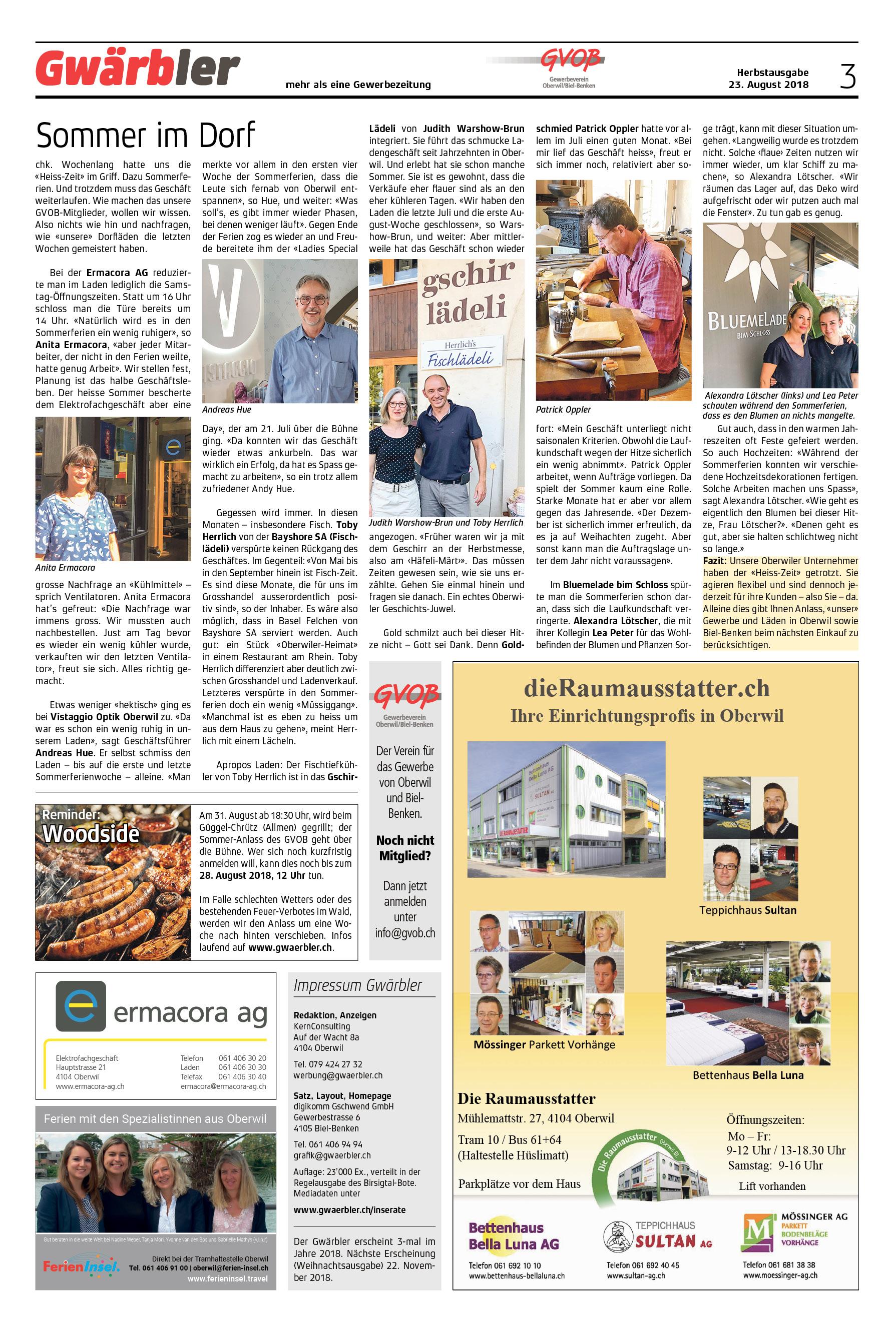 Gwärbler Ausgabe 2-18, Seite 3