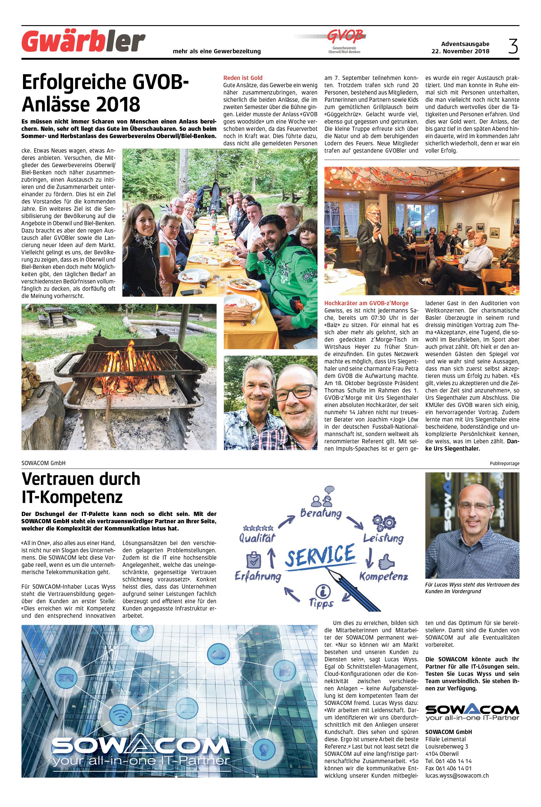 Gwärbler Ausgabe 3-18, Seite 3